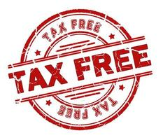 selo isento de impostos foto