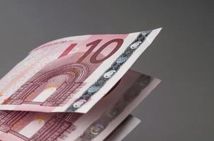 notas de dez euros foto