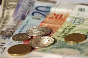 close-up de moeda foto