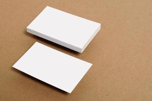 cartão de visita em branco