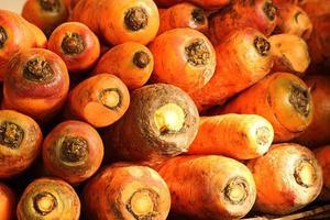 cenouras frescas no mercado foto