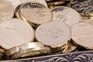 polonês zlote moedas pln foto