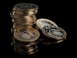 a torre desmoronada das moedas russas foto