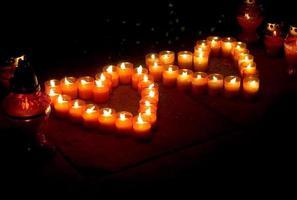 corações de luz. foto