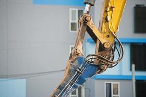 perfuração da máquina no local da construção foto
