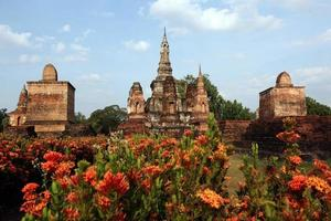 tailândia sukhothai wat mahathat foto