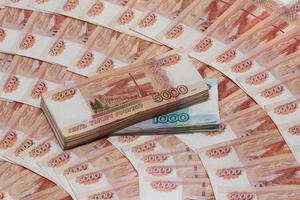 rublos russos (moeda russa) foto