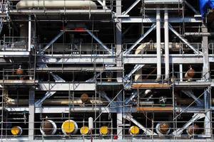 plataforma de perfuração em construção foto
