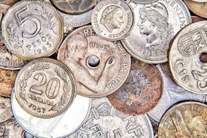 moedas velhas foto