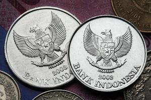 moedas da indonésia foto