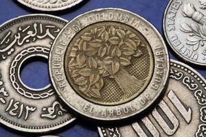 moedas da colômbia foto