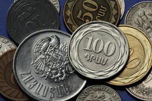 moedas da armênia foto