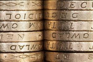 moedas de libra esterlina foto