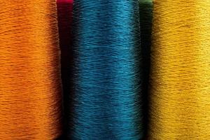 closeup de fio colorido