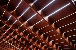estrutura de piso de madeira foto