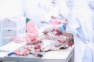 fábrica de carnes foto