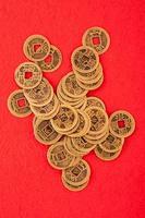 dinheiro de cobre foto