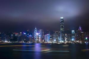 paisagem urbana de construção moderna em hong kong foto