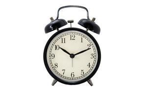 relógio em fundo branco foto