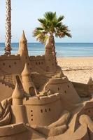 escultura em areia do castelo foto