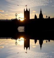 casas do parlamento em londres, uk foto