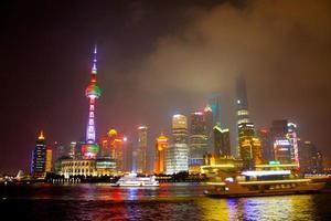 vista de shanghai do bund foto