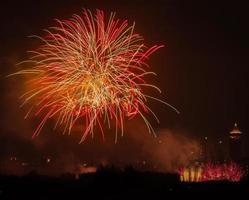 fogos de artifício sobre o parque do século, xangai - 1 foto