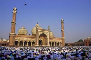 jama masjid, old delhi, índia foto