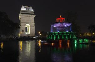 portão da índia, nova deli, índia foto
