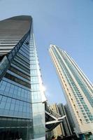 edifício de vidro moderno foto