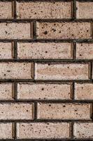 fundo da parede de tijolo vermelho grunge foto