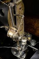 máquina de costura vintage foto