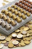 moedas da união europeia foto