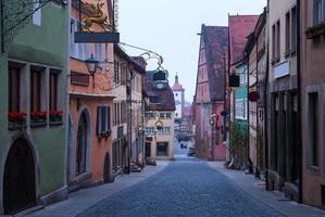 Rothenburg ob der Tauber. Baviera, Alemanha. foto