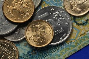 moedas da rússia foto