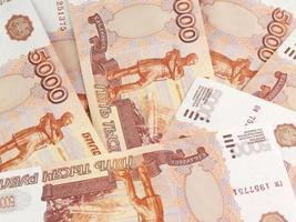 mil rublos russos foto