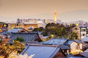 paisagem urbana de kyoto, japão foto