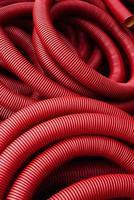 tubos corrugados vermelhos foto