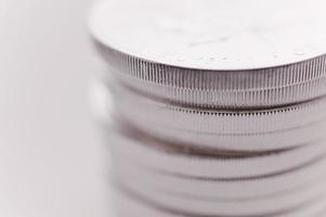 moedas de prata foto