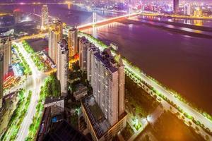 Vista de pássaro em Xangai, China. foto