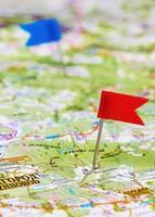empurre o alfinete em um mapa foto