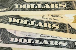 detalhe do dólar foto