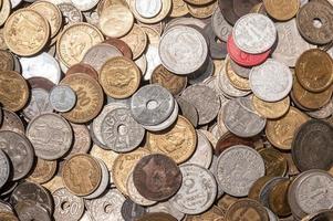 moedas antigas de francês vintage foto