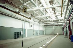 interior do armazém industrial