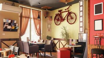 design retro interior de café foto