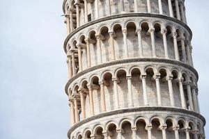 torre inclinada, pisa, itália foto