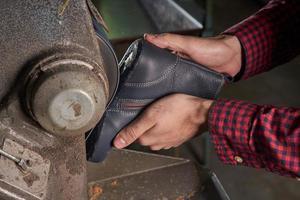 fábrica de sapatos foto