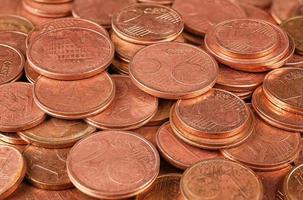 macro de grupo de moedas foto