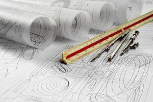 desenhos e ferramentas de desenho foto