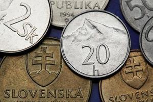 moedas da eslováquia foto
